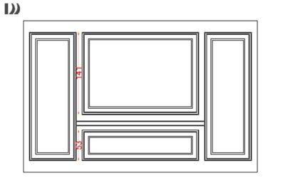 طراحی گچبری قاب روی دیوار