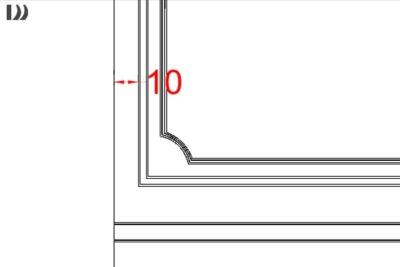 طراحی قاب روی دیوار
